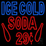 Ice Cold Soda 29 LED Neon Sign