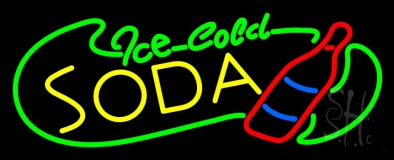Ice Cold Soda LED Neon Sign