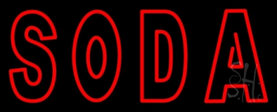 Red Soda LED Neon Sign