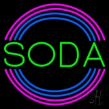 Round Green Soda LED Neon Sign