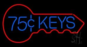 75 Cent Keys Logo LED Neon Sign