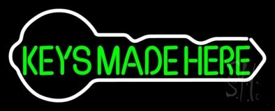 Green Keys Made Here Key Logo LED Neon Sign