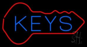 Keys Inside Key Logo LED Neon Sign