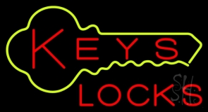 Keys Locks LED Neon Sign