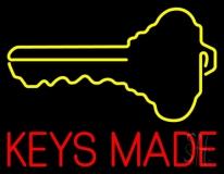 Keys Made With Key Logo LED Neon Sign