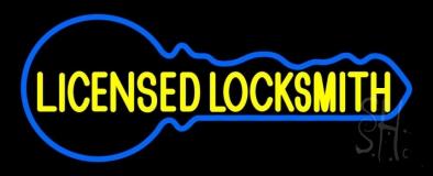 Licensed Locksmith LED Neon Sign