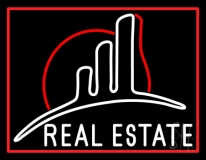 Real Estate With 1 Logo Neon Sign