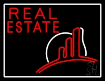 Real Estate With Logo 2 Neon Sign