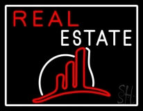 Real Estate With Logo 5 Neon Sign
