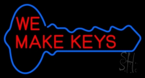 Red We Make Key LED Neon Sign