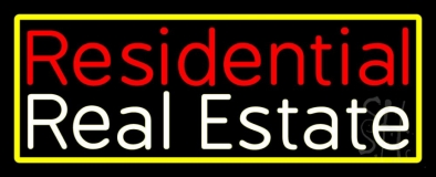 Residential Real Estate 3 Neon Sign