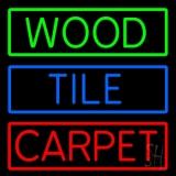 Wood Tile Carpet LED Neon Sign