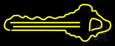 Yellow Key Logo LED Neon Sign
