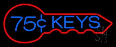 75 Cent Keys Logo 1 LED Neon Sign
