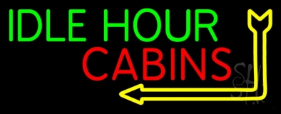 Idle Hour Cabins 1 LED Neon Sign