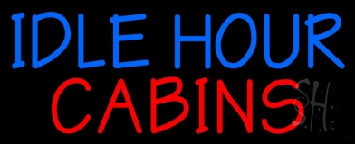 Idle Hour Cabins 3 LED Neon Sign