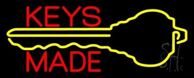 Keys Made With Key Logo 1 LED Neon Sign