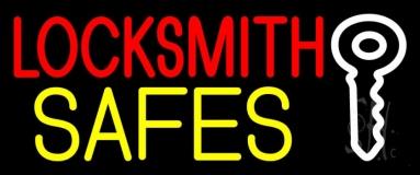 Locksmith Safes Key Logo 2 LED Neon Sign