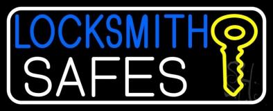 Locksmith Safes Key Logo 3 LED Neon Sign