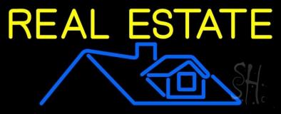 Real Estate Home Logo 1 LED Neon Sign