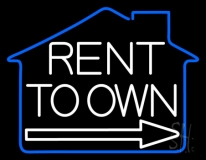 Rent To Own 1 Neon Sign
