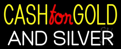 Cash For Gold And Silver 1 LED Neon Sign