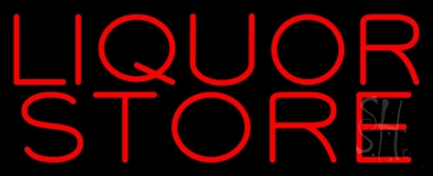 Red Liquor Store LED Neon Sign