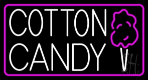 Cotton Candy With Logo LED Neon Sign