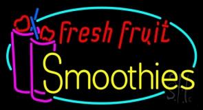 Oval Fresh Fruit Smoothies LED Neon Sign