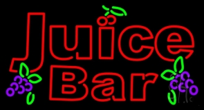 Red Juice Bar LED Neon Sign