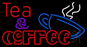 Double Stroke Tea And Coffee LED Neon Sign