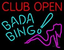 Club Open Bada Bing LED Neon Sign