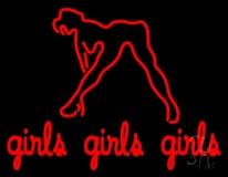 Girls Girls Girls Strip Club LED Neon Sign