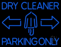 Dry Cleaner Parking Only LED Neon Sign