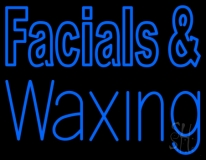 Blue Facial And Waxing LED Neon Sign