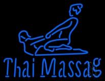 Blue Thai Massage Logo LED Neon Sign