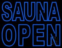Double Stroke Sauna Open LED Neon Sign