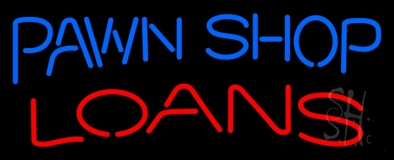 Pawn Shop Loans 1 LED Neon Sign