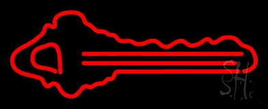 Red Key Logo 1 Neon Sign