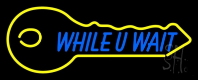 While You Wait Key Logo 1 LED Neon Sign