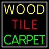 Wood Tile Carpet 1 LED Neon Sign