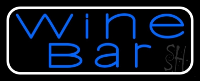 Blue Wine Bar LED Neon Sign