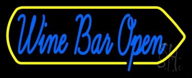 Cursive Wine Bar Open LED Neon Sign