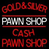 Gold And Silver Pawn Shop LED Neon Sign
