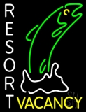 Resort Vacancy With Fish LED Neon Sign