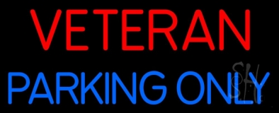 Veteran Parking Only LED Neon Sign