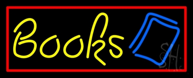 Yellow Books LED Neon Sign
