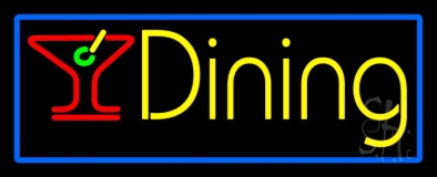 Dining With Martini Glass 1 LED Neon Sign