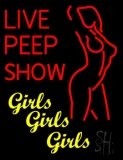 Live Peep Show LED Neon Sign
