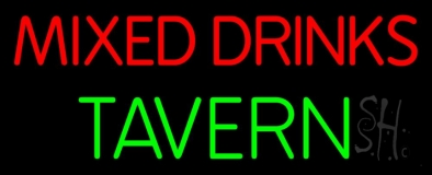 Mixed Drinks Tavern 1 LED Neon Sign